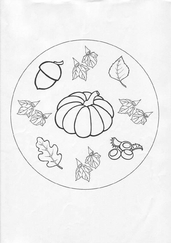 Dibujos Para Colorear Mandala Otono Es Hellokids Com