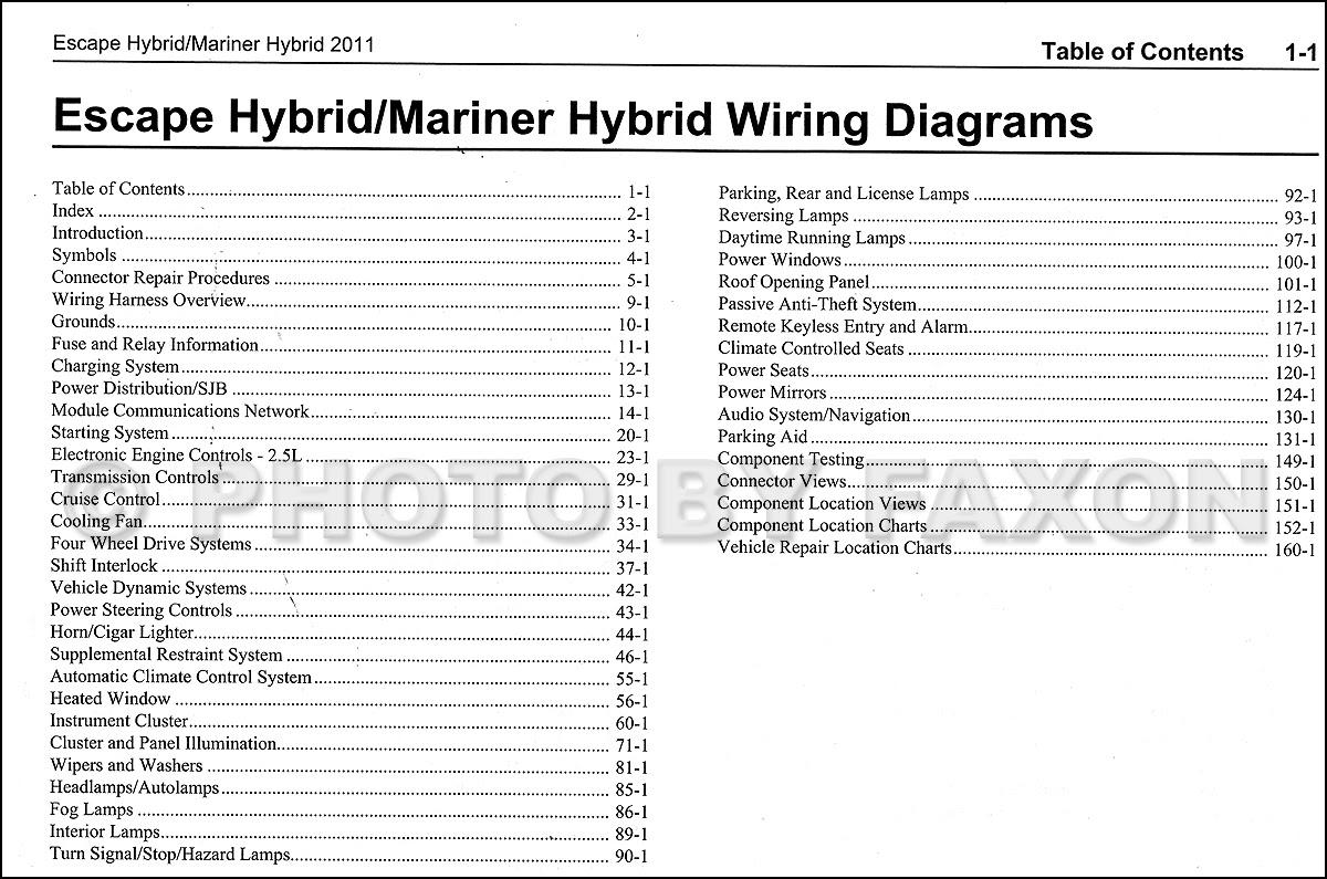 Diagram 201ford Escape Hybrid And Mercury Mariner Hybrid Wiring Diagram Manual Original Full Version Hd Quality Manual Original Drainschematics Investinlazio It
