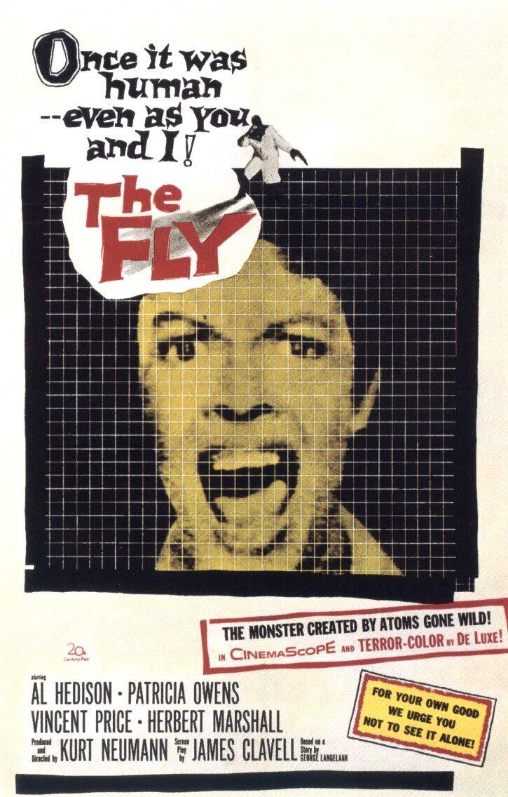 Resultado de imagem para the fly 1958 poster