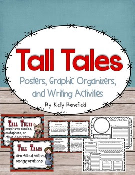 Tall Tales Posters, Graphic Organizers, and Writing Prompts