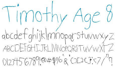 click to download Timothy Age 8