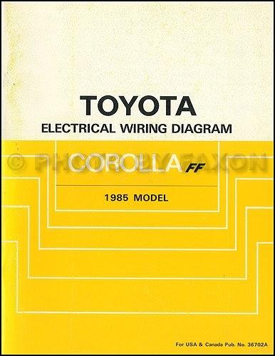 Read Online 1985 Toyota Corolla FWD Wiring Diagram Manual ...
