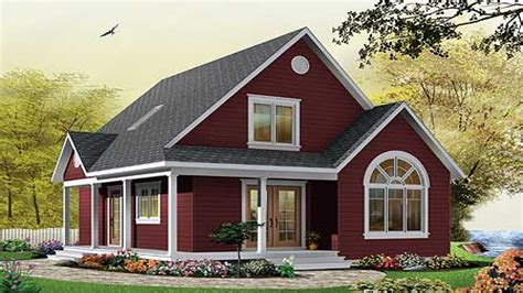 small cottage house plans  porches simple small house