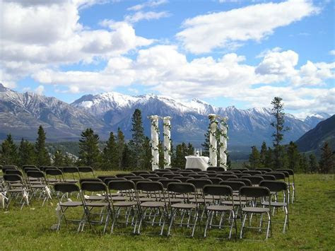 Beautiful outdoor wedding venue at Banff's Tunnel Mountain