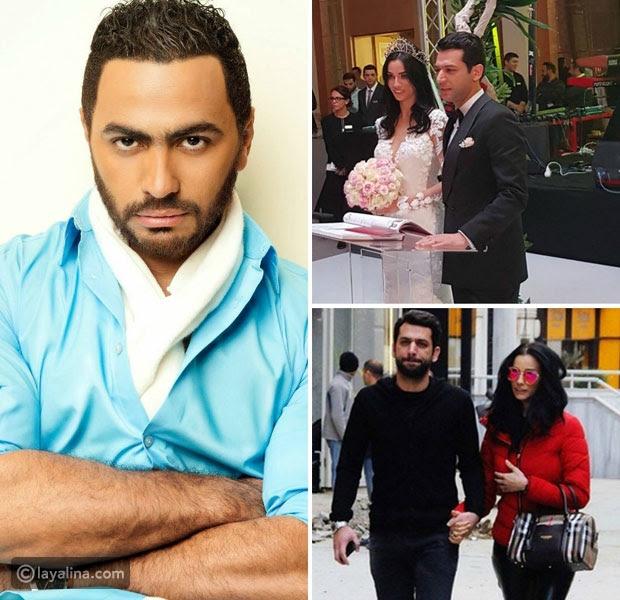 تامر حسني يتخذ قراراً هاماً بسبب زفاف مراد يلدريم وإيمان الباني الثاني