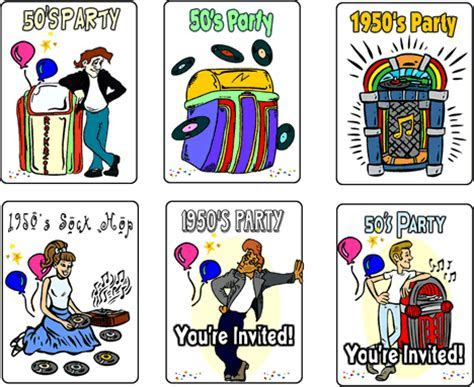 Hoover Web Design Blog » Free 50?s Party Printable Invitations