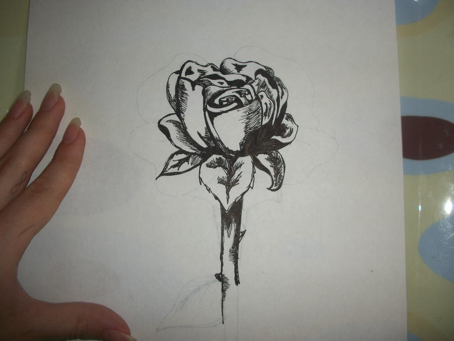 Single Rose Tattoo Design Interior Home Design