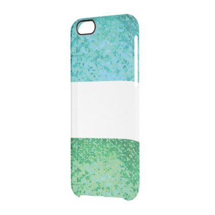 Double greenblue iphone marries clear iPhone 6/6S case