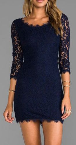 Navy lace.