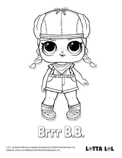 brrr bb coloring page lotta lol coloring pages kids
