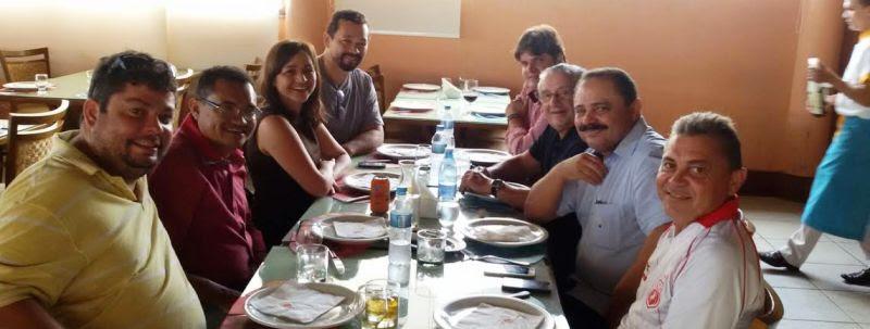Eliziane e José Reinaldo, com Waldir e dirigentes do PP e do PPS