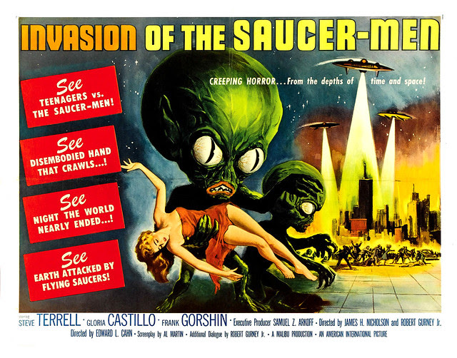 Albert Kallis - Invasion of the Saucer-men (American International, 1957) Half Sheet