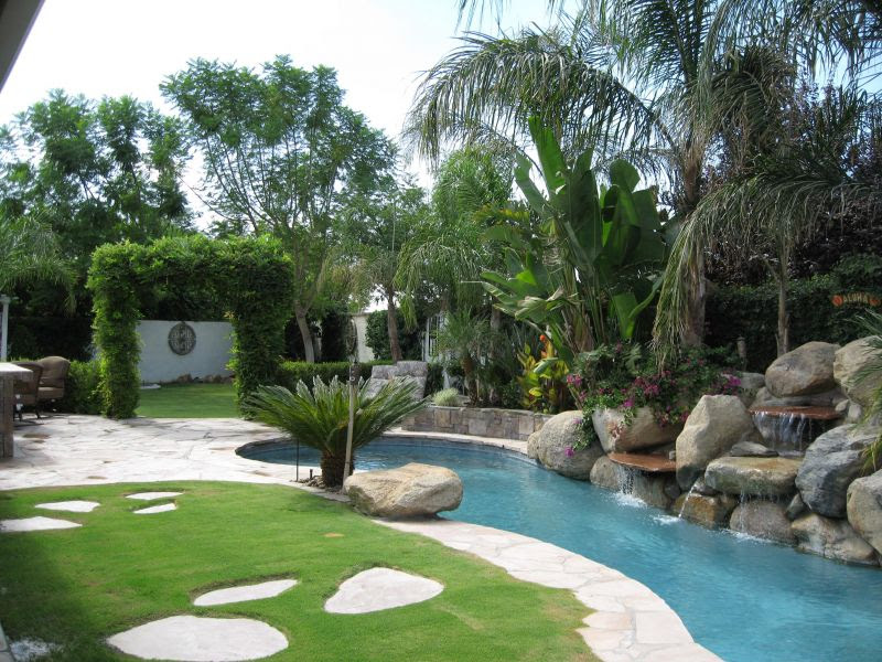 Tropical Backyard Landscaping Ideas Home Design And Decor Reviews