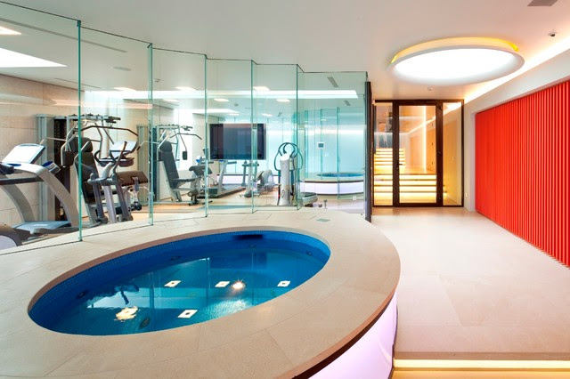 Basement pool in London - modern - home gym - other metro - by ...