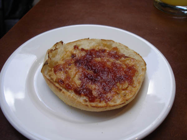 Zipp Restaurant Bar (Mantra hotel, Canberra) - Toasted crumpet, peanut butter and raspberry jam.