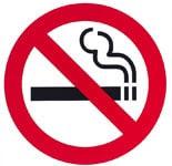 símbolo de no fumar
