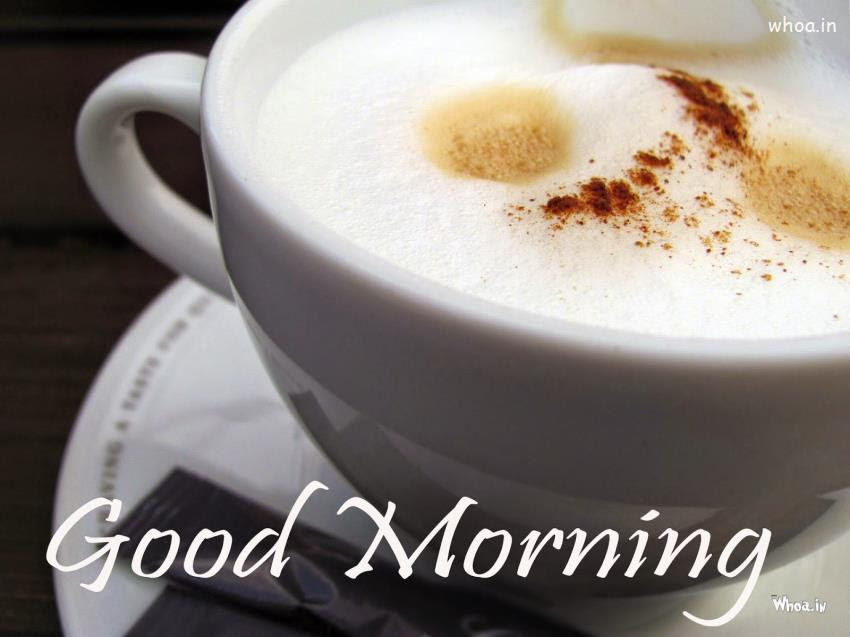 Very Good Morning With Cup Of Coffee Hd Wallpaper
