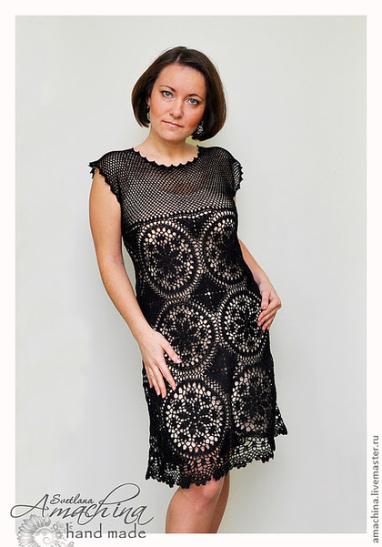 "Handmade dresses.  Fair of Masters - handmade.  Buy ""Black Lily"" author's work.  Handmade.  Black, Crochet"