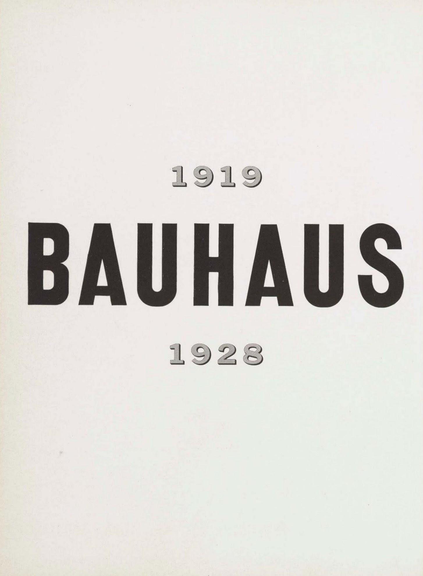 Bauhaus 1919 1928 Edited By Herbert Bayer Walter Gropius Ise