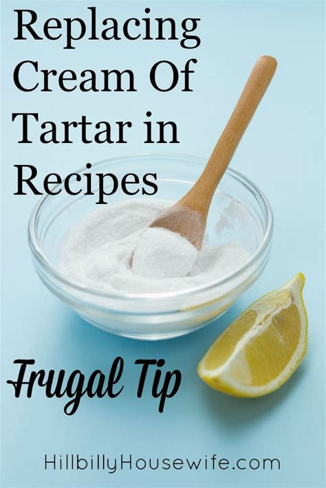 replacing cream  tartar  recipes hillbilly housewife