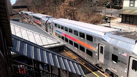 nj transit train  fanwood  jersey youtube