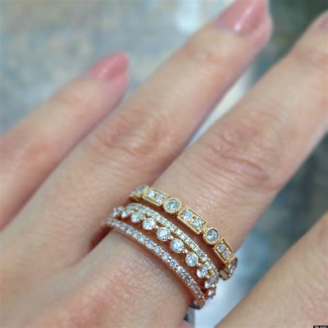 Stackable Wedding Bands Are One Of Our Favorite Jewelry