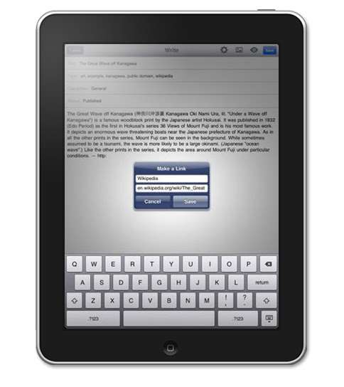 WordPress iPad App
