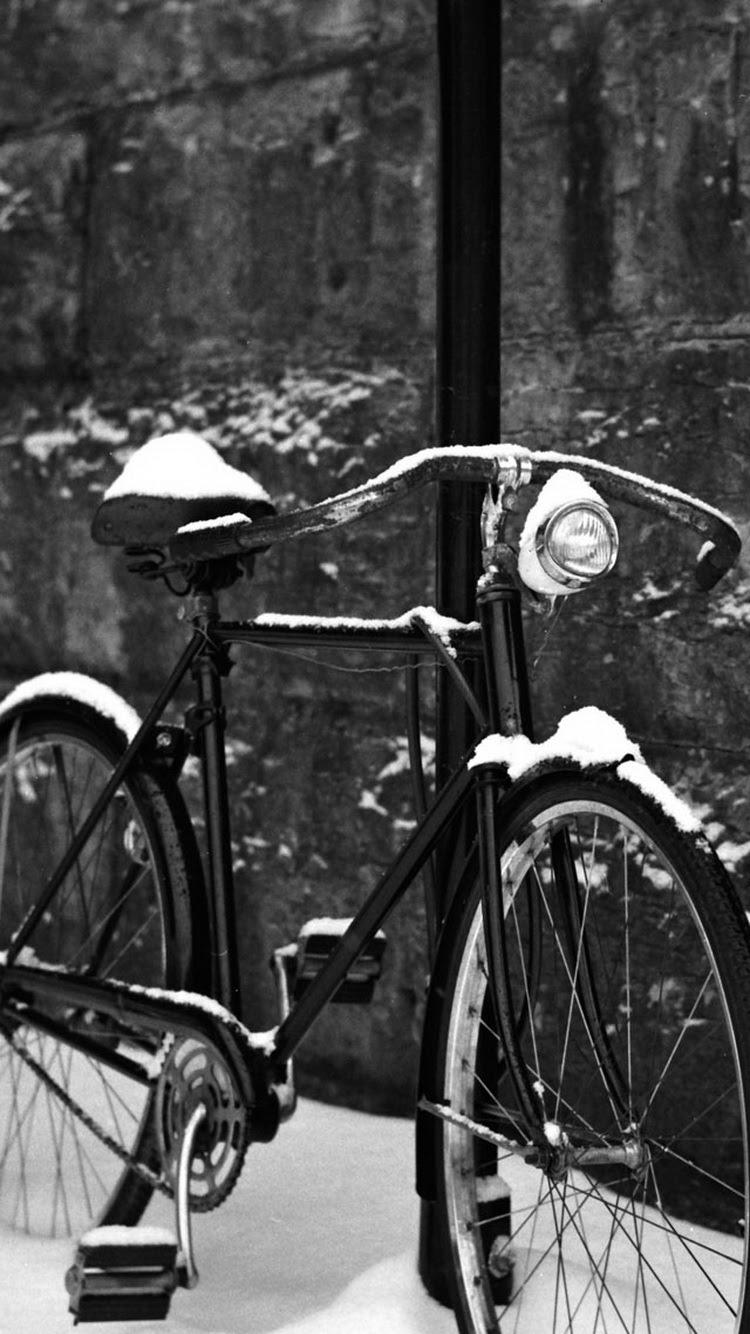 レトロ自転車の雪iphone6壁紙 750 1334 Iphoneチーズ