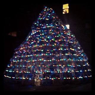 Lobster Pot Christmas Tree #gloucester #home #lobsterpot #lights