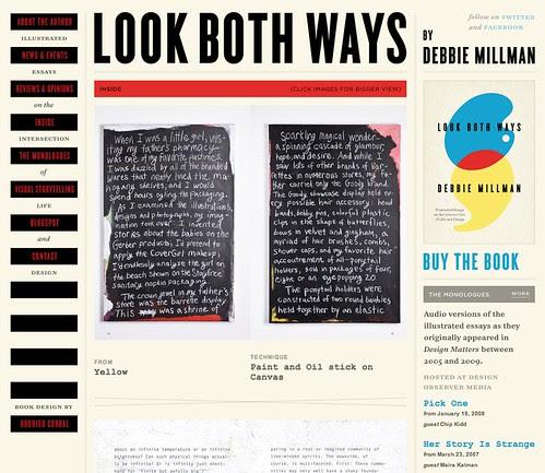 screen shot of new website!