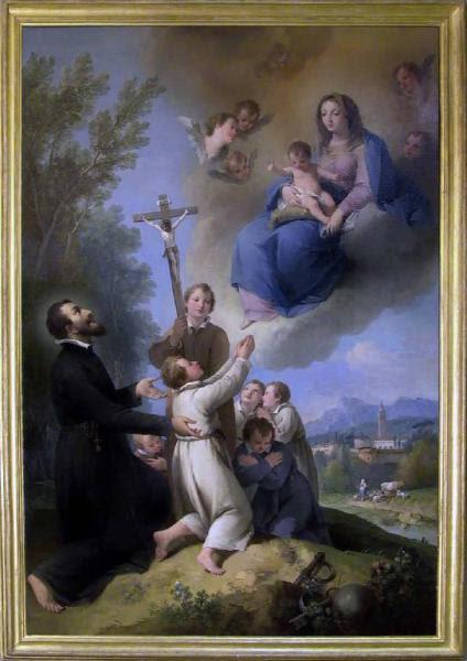 San Girolamo Emiliani presenta i fanciulli alla Madonna con Bambino
