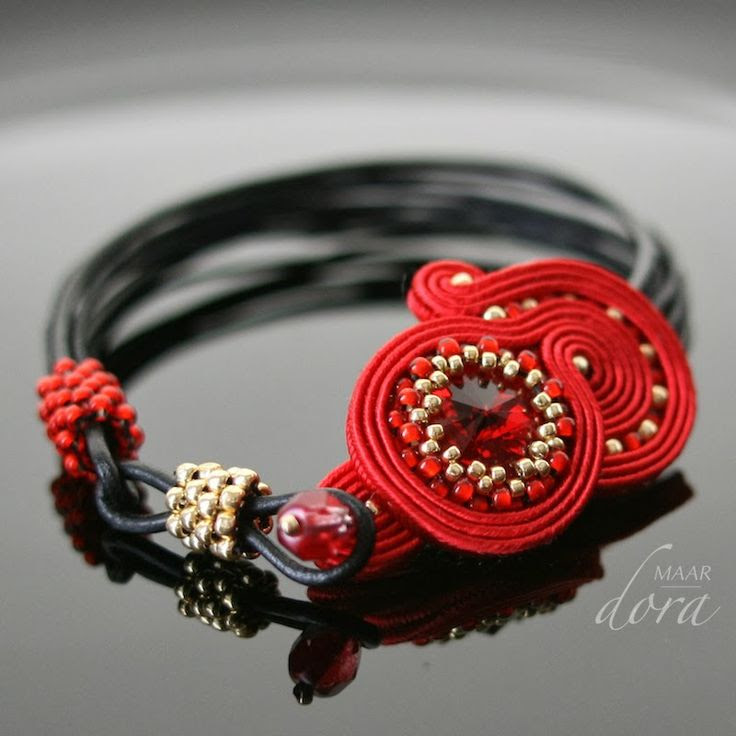 Dora Maar - biżuteria sutasz i beadwork: sutasz