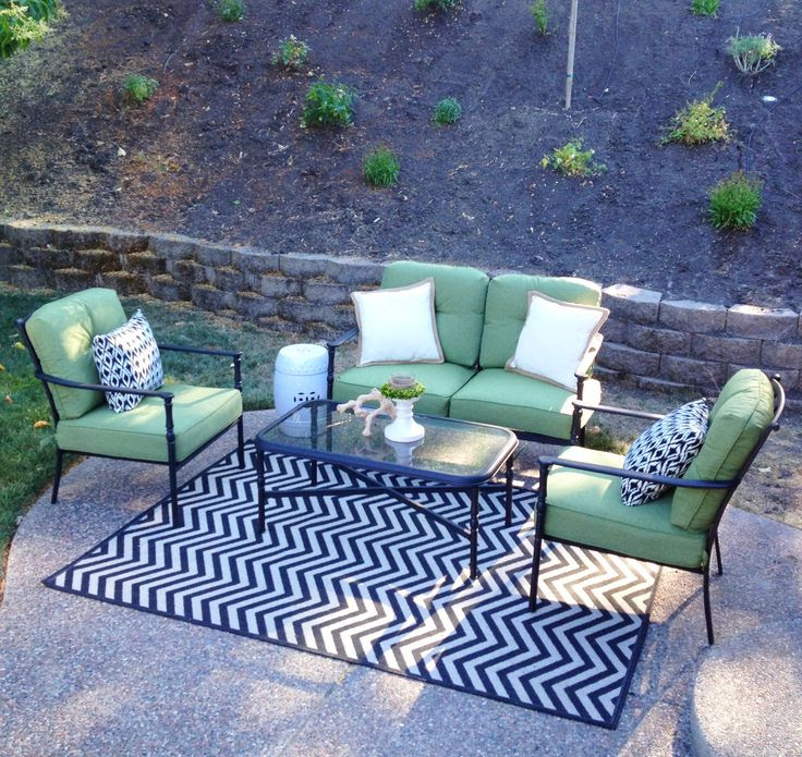 Patio lounge area. Furniture from Lowe's,  | Home Remodel Someday