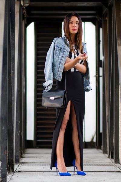 Light-blue-river-island-jacket-black-leather-flap-mango-bag