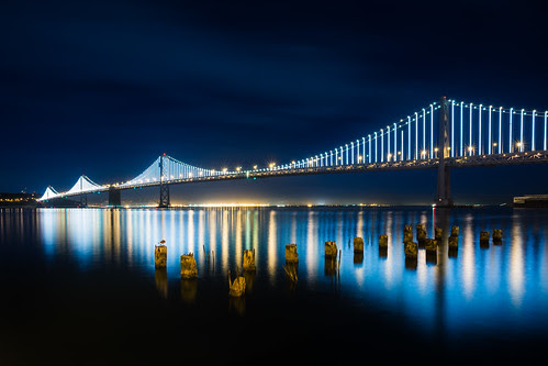 Bay Bridge Lights por bongarang