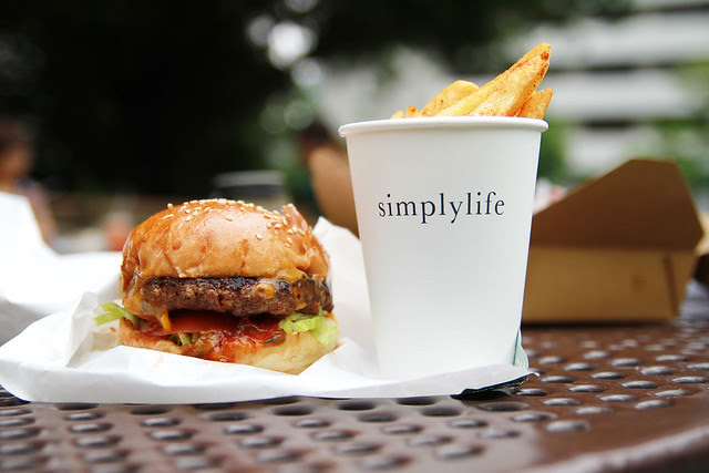 Hong Kong Park Lunch Burger Fries