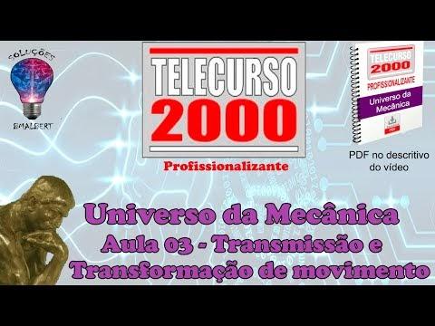 TELECURSO 2000 - UNIVERSO DA MECÂNICA - TRANSMISSÃO E TRANSFORMAÇÃO DE MOVIMENTO