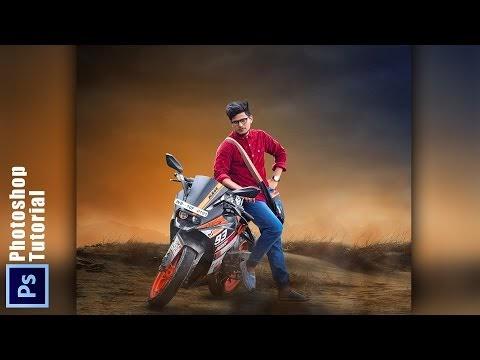 PHOTOSHOP MANIPULATION | KTM LOVER PHOTOSHOP TUTORIAL | Awesome color ef...
