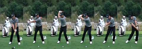Sequence of Robert Karlsson hitting his driver