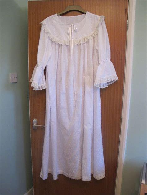 victorian style cotton nightdress size   jamjar