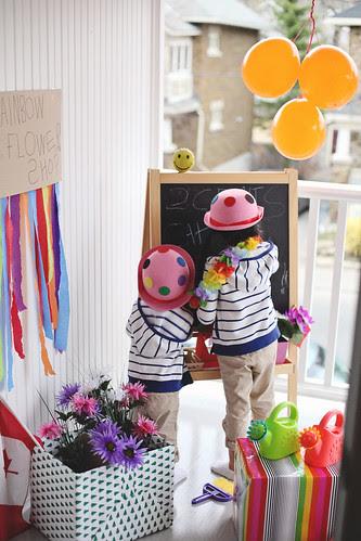 'rainbow flower shop'