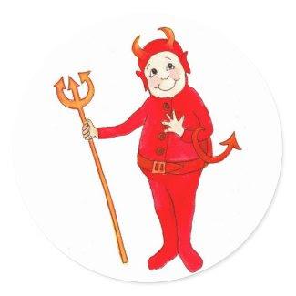 Little Red Devil Stickers sticker