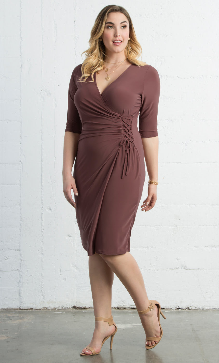 plus size wrap dresses  vixen cocktail dress