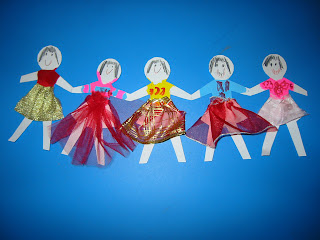 Chain Of Girl Paper Dolls