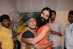 Baba Ramdev Saab and The Barefeet Blogger of Mumbai by firoze shakir photographerno1