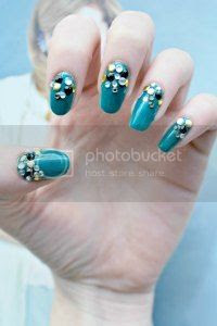embellished nail art, tutorial, easy nails, nail art blog