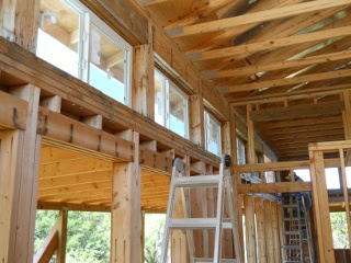 House Pony Wall Windows Installed