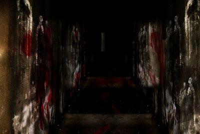 bloody hallway at stadium