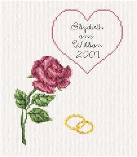 Wedding / Anniversary Card Cross Stitch Pattern wedding
