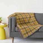 Brown and Beige Tartan Plaid Throw Blanket